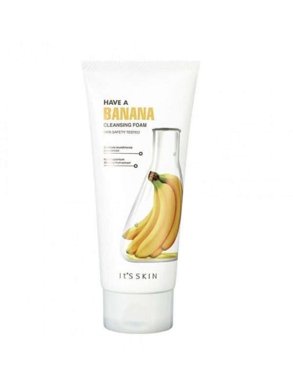 have a banana cleansing foam its skin