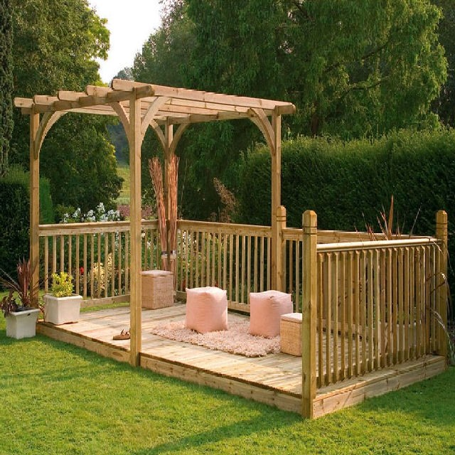 Forest Ultima Deck Kit Including Pergola 16 X 8 4 88m X 2