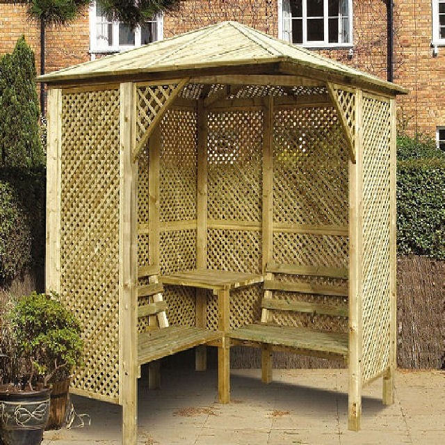 Grange Valencia Corner Garden Arbour With Table Elbec