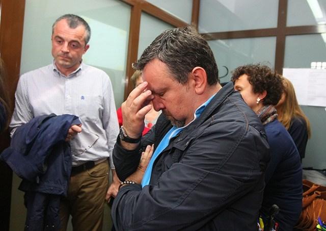 Los concejales del PP arroparon a Carlos López Riesco en su despedida (C.Sánchez/Ical)