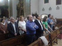 Las principales autoridades del Bierzo asistieron a la misa funeral oficiana en la Basílica de la Encina.