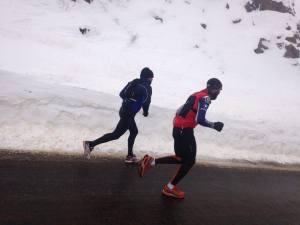 El invierno no es rival para Basurco, que recienmente hizo el Camino de Santiago corriendo
