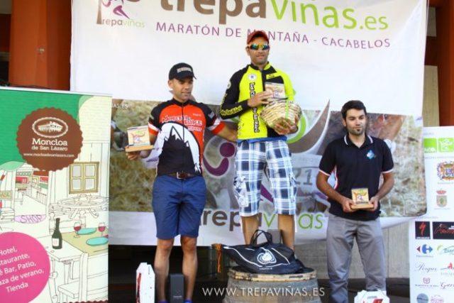 Imagen del podium de la categoría BTT. / Trepaviñas