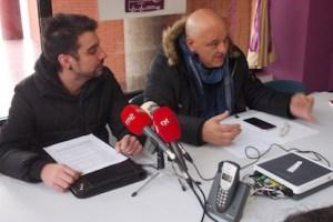 Miguel Marabel y Miguel Ángel Fernández, este jueves en la sede de Podemos / BierzoDiario.com