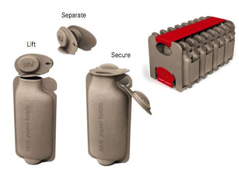 360 bottle funcionamiento - 360 bottle: botella de papel reciclable