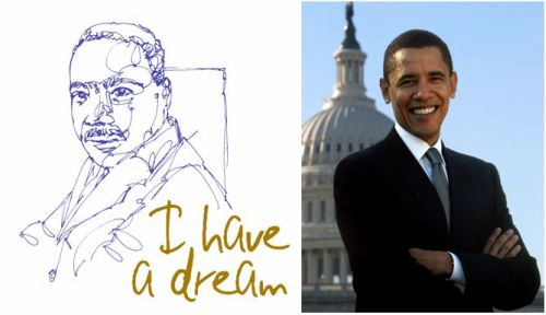 obama, luther king