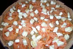 pizza4 - Receta de pizza integral de berenjena, tomate y queso de cabra