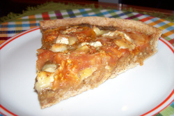 pizza5 - Receta de pizza integral de berenjena, tomate y queso de cabra