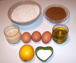 magdalenas ingredientes1 - Receta de magdalenas integrales