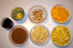 sandwiches ingredientes - Sandwich integral de chutney de frutas y queso cheddar