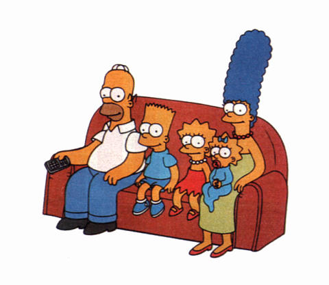 simpsons sofa