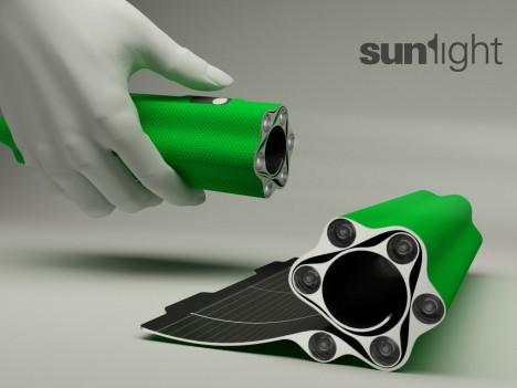 sunlight - sunLight: cargador solar, almacén de energía y linterna todo en uno