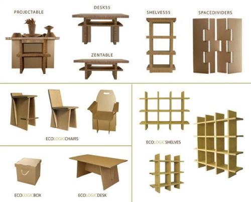 Muebles de cartn reciclado y reciclable Cardboardesign