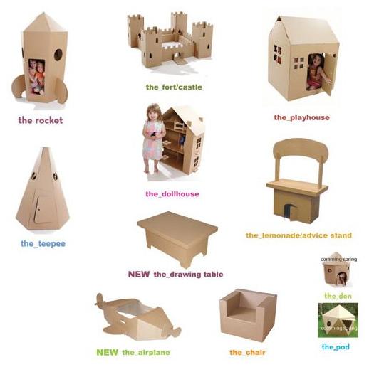 Vive Sana Muebles de cartn reciclado y reciclable Cardboardesign