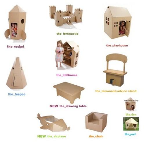 cardboarddesign ninos - Muebles de cartón reciclado y reciclable Cardboardesign