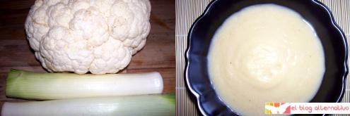 crema de verduras blanca