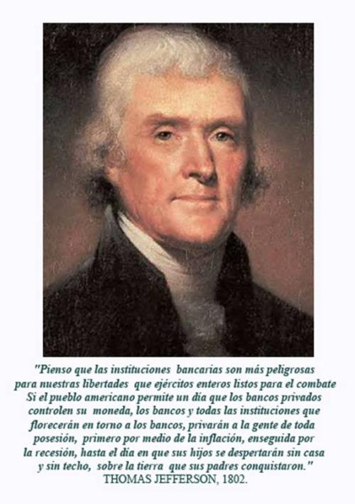 jefferson - Thomas Jefferson y los bancos