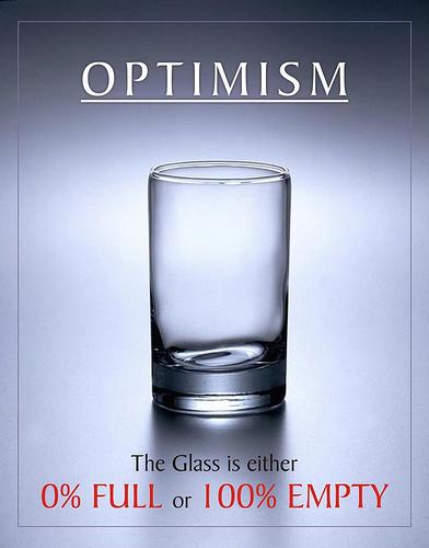 optimismo vaso - optimismo