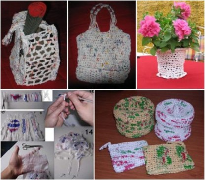 88ec56215 TEJER CON BOLSAS DE PLÁSTICO: artesanía ecológica y solidaria - El ...