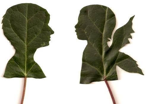 siluetas en hojas por jenny lee fowler - Tu silueta en una hoja por la artista Jenny Lee Fowler