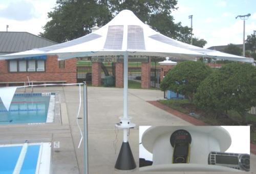 Powerbrella sombrilla con paneles solares
