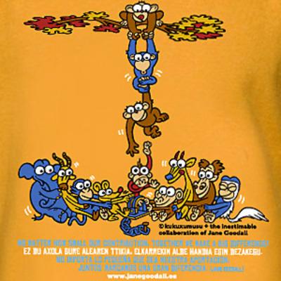 kukusumusu txinpas - TXINPAS: camiseta de Kukuxumusu para sensibilizar sobre la protección de los grandes simios
