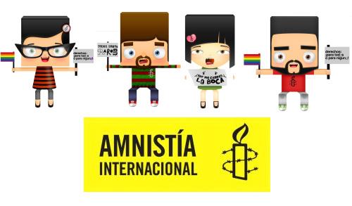 los protestones - Actúa por los Derechos Humanos desde tu ordenador. Nueva línea de Artículos Digitales de Amnistía Internacional