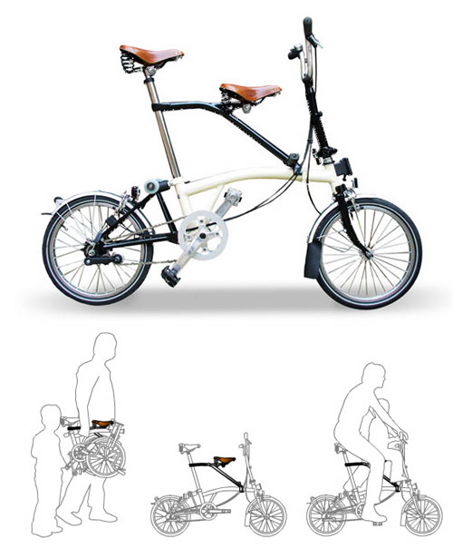 Brompton con sillin infantil Itchair