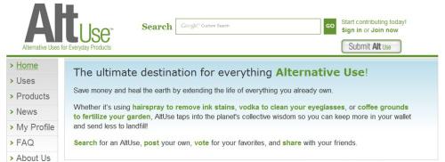 altuse - AltUse: usos alternativos a los productos de siempre