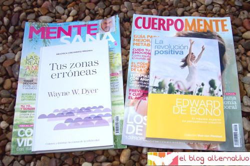 libros revistas - 2 interesantes libros de regalo con las revistas Mente Sana y CuerpoMente en algunos quioscos