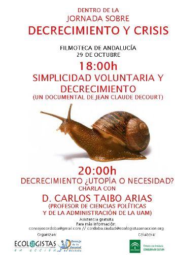 decrecimiento cordoba - Jornada gratuita sobre decrecimiento en Córdoba: 29 de octubre 2009