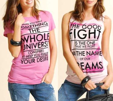 mango2 - Camisetas de Mango con citas de Paulo Coelho
