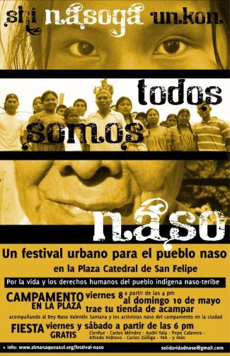 """pueblo naso cartel - El """"progreso"""" contra los indígenas del pueblo naso"""