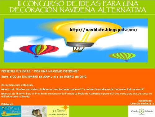 cartel concurso navidate20091 - NavíDATE: una forma diferente de entender la Navidad en Cantabria