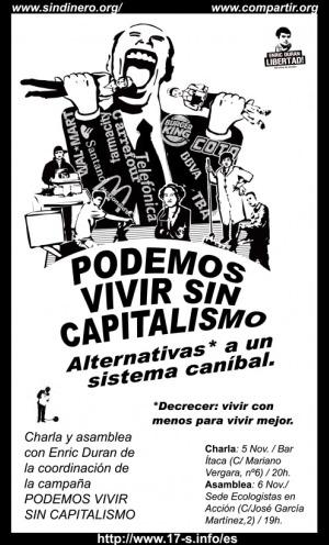 enric duran cartel - Charlas de Enric Duran el 5 y 6 de noviembre del 2009 en Murcia y el 7 de noviembre en Alicante sobre decrecimiento y alternativas al capitalismo