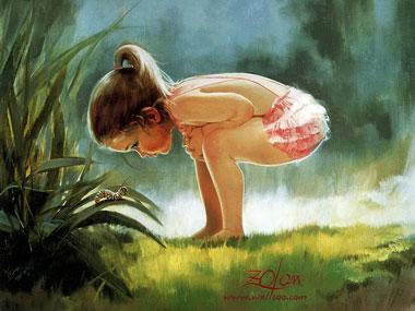 girl watching a maggot don - Los abusos del marketing infantil