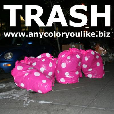 trash2 - Bolsas de basura ecológicas y de diseño: conciencia ambiental verde y rosa...