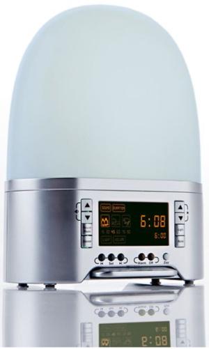 despertador que simula el amanecer - Despertador que simula la luz del alba y emite sonidos naturales