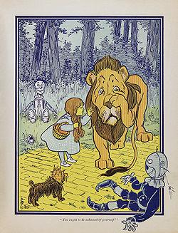leon cobarde - EL MARAVILLOSO MAGO DE OZ: viaje de retorno a casa
