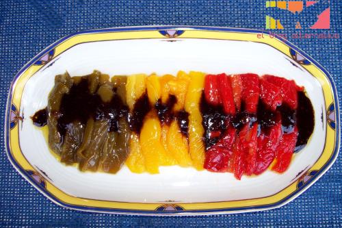 pimientos marinados - Pimientos tricolores marinados