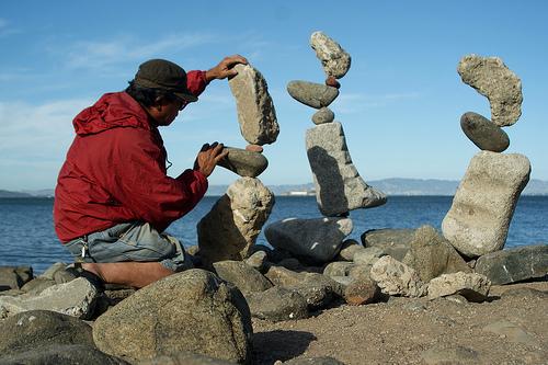 arte piedras2 - Arte con piedras en equilibrio: talento, naturaleza y mensaje