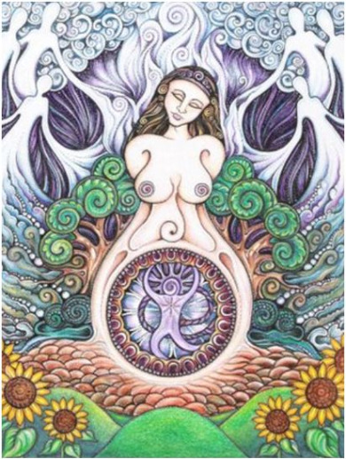 diosa2 - El despertar de la Diosa: 6 talleres mensuales en España coincidienco con las lunaciones y viaje final a Mexico, desde enero a junio del 2010