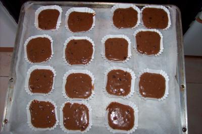 magdalenas2 - Receta de magdalenas de chocolate y pepitas