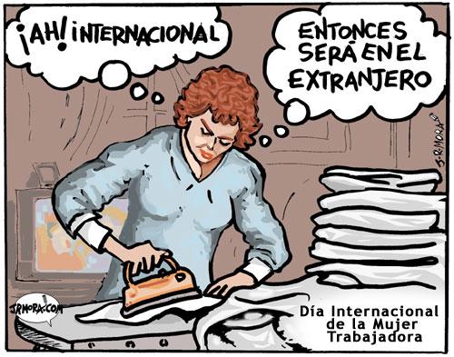 mujer internacional - Humor: el hombre y el día de la mujer trabajadora