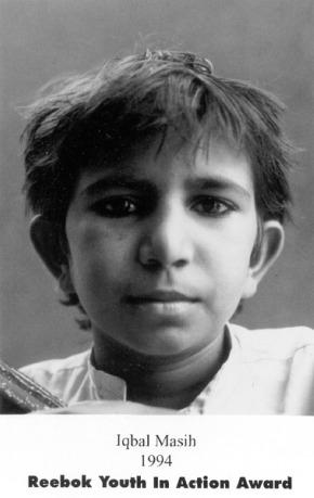 iqbal reebok - IQBAL MASIH y su historia. 16 de abril: Día Internacional contra la Esclavitud Infantil