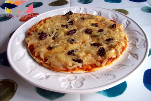 pizza - Pizza de cebolla y pasas