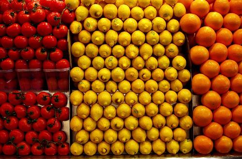 frutas colores
