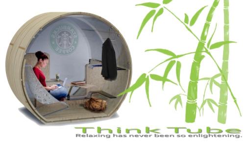 thinktube1 - Think Tube: cilindro de bambú para tener nuestro propio espacio
