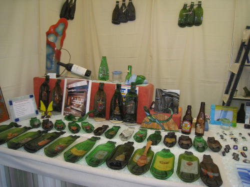 vidrio reciclado - Arte en vidrio reciclado de Agustín Aguirre