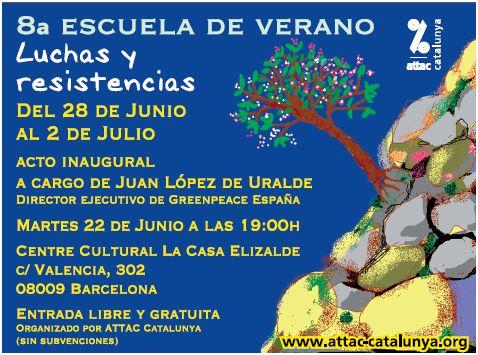 attac cataluña luchas y resistencias